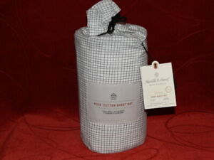 Hearth & Hand with Magnolia Foggy Day Green FULL Cotton Sheet Set NEW