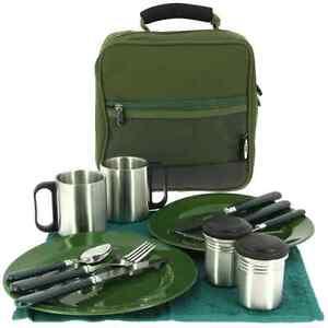 XXL Camping Besteckset Sessionbag Bestecktasche Food bag Campinggeschirr NGT