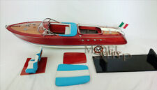Riva Aquarama RC Convertible Handmade Wooden Model Speedboat Scale 1:10