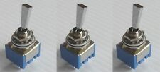 Set of 3- Mini 2-Way Toggle Switch - Made in Japan