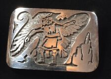 Vintage Hopi Over Layed Belt Buckle. Eagle Dancer
