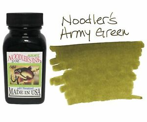 Noodler's Fountain Pen Ink - 3oz Bottle - 19009 - Army Green