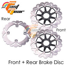 "Front Rear SS Brake Disc Rotor Kit For Honda CB 600 F Hornet 16"" wheel 98 99"