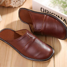 Mens Shoes Genuine Leather Closed Toe Comfortable Indoor House Slippers US 8