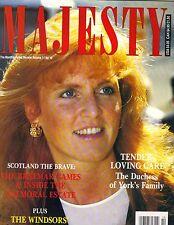 SARAH FERGUSON UK Majesty Magazine 10/90 VOL 11 NO 10 Braemar Games