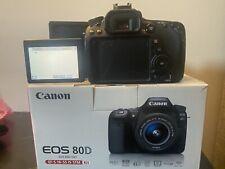 Canon EOS 80D 24.2 MP Digital SLR Camera - Black (with EF-S 18-55mm Lens)