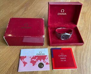 OMEGA De Ville Quartz Watch. Cal.1342 Date Stainless, Papers, original sale bill