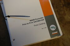 CASE 9060B Excavator Crawler Trackhoe Parts Manual book catalog list spare