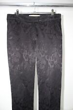 Rabens Saloner designer Ladies Stretch Jeans Black Patterned size S RRP $490.00