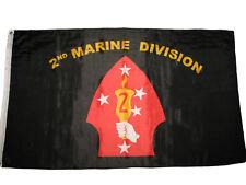 3x5 USMC Marine Marines 2nd Marine Division Premium Flag 3'x5' Banner Grommets