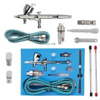 0.2mm Dual Action 3 Airbrush Air Compressor Kit Craft Cake Paint Art Spray Gun