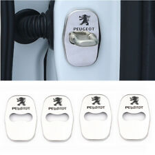 4PCS Stainless Steel Door Striker Cover for Peugeot 207 308 508 3008 RCZ
