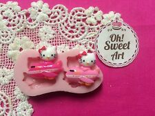 Hello Kitty Air  Silicone Mold Food Safe Cake Decoration Candy Cupcake (FDA)