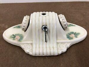 Vintage Porcelain Ceiling Light Fixture flush mount lamp double white painted