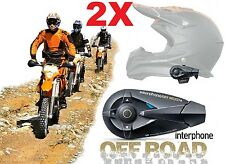 INTERFONO INTERPHONE OFF ROAD CONFERENZA 4PERS BLUETOOTH DUE CASCHI CROSS ENDURO