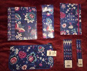 Vera Bradley Gift Set w/Notebook Set, Stickers, Pouch, Ink Pens, Gel Pens