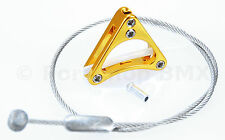 Aluminum alloy bicycle triangle brake cable hanger U-brake & cantilever - GOLD