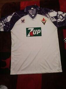 Uhlsport Fiorentina 1993-94 Away 7up Jersey Vintage Mens Large