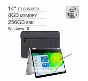 """Acer Spin 3 14"""" FHD TouchScreen 2-in-1 Laptop i5-1035G1 8GB 256GB SSD w/ Sleeve"""