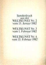 KOKOSCHKA. Sonderdruck aus den Weltkunst Nr. 2 vom 15. Januar 1982