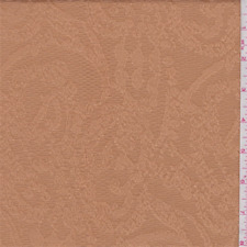 Bisque Scroll Pique Jacquard, Fabric By The Yard