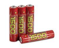 4 x High Power McPower Micro Akku AAA 1,2V 1500 mAh NiMH Akkus Batterie Battery