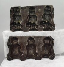 Antique Clear Candy Chocolate Mold - Owl 109 - Cast Iron - Mills