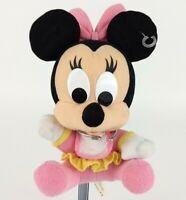 Vintage Disney Baby 1st Minnie Mouse Stuffed Plush Rattle Toy Doll Jingle Mattel