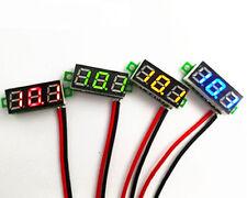 """1PCS 0.28"""" DC Digital Voltmeter Panel Mount LED Voltage Volt Meter Red 2.5-30V"""