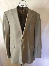 LAUREN RALPH LAUREN Beige Tan Houndstooth Blazer Jacket Coat Men's (44L)