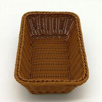 Hand-woven Storage Basket Rattan Tray Wicker Bread Fruit Food Breakfast Display