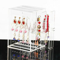 Acrylic Earring Display Rack Stand Organizer Holder Ear Studs Storage Clear