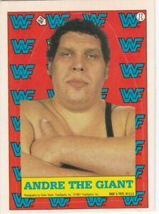 ANDRE THE GIANT 1987 WWF TOPPS STICKER #17 WWE WRESTLING STARS