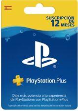 Tarjeta Playstation Plus Suscripción 12 Meses (PS3/PS4/PSVita) Código/Fisica ESP