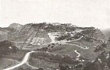 D0019 Veduta generale da Sant'Angelo Muxaro - Stampa Antica del 1932 - Old print