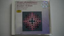 Mozart : Krönungsmesse Coronation / Bruckner : Te Deum / Karajan -  CD