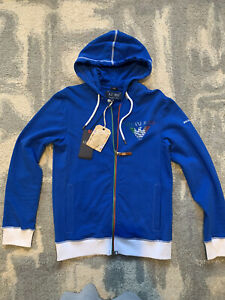 NWT Armani Jeans LOGO ITALY World Football Special Edition Slim Fit Hoodie  L