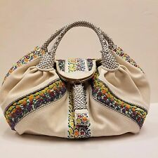 RARE Fendi Spy Bag Limited Edition Hand Embroidered Canvas Large