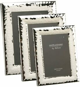 """JULIANA SILVER SHINY HAMMERED PICTURE PHOTO FRAME - 4""""X6"""" 5""""X7"""" 6''X8'' 8""""X10"""""""