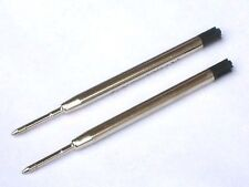 """PEN REFILLS-TWO x 10cm BLACK """"chubby""""-for use with CODAN, MAKIN, CONCEPT ranges"""