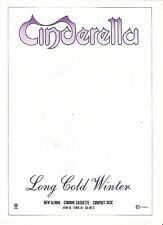 CINDERELLA Long Cold Winter UK magazine ADVERT / mini Poster 11x8 inches