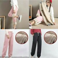 For Harem Women Lined  Outdoor Sport Breathable Fleece Thicken Pants Winter