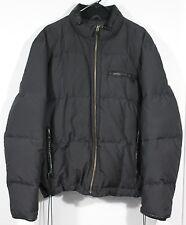 Cole Haan Mens Men's Black 80% Down Coat Winter Puffer Jacket Sz XL 46 Leather