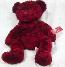 "Russ RED SPARKLY ROSETTA TEDDY BEAR 14"" Plush STUFFED ANIMAL Toy NEW"