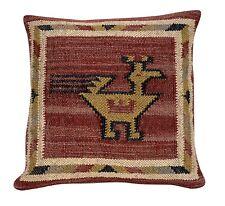 Indian Vintage Jute Kilim Cushion Cover Decorative Rug Pillow Dorm Decor Art