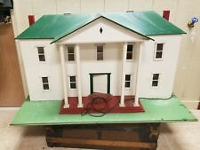 Large Wood Doll House - Electric - Hand made  - Vintage dollhouse