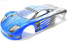 12203 1/10 Scale Drift Touring Car Body Cover Shell RC Light Blue Cut