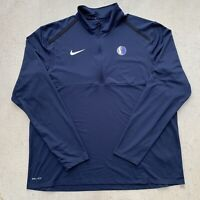 Nike Dri Fit Dallas Mavericks Pullover Shirt Mens 2 Extra Large Blue NBA Adult