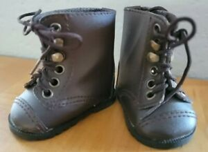 Pleasant Company American Girl Retired Brown Lace Up Boots