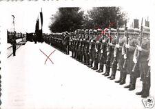 18404/ 2 Originalfoto 9x6cm, Deutsch-Bulgarische Ehrenformation für den König
